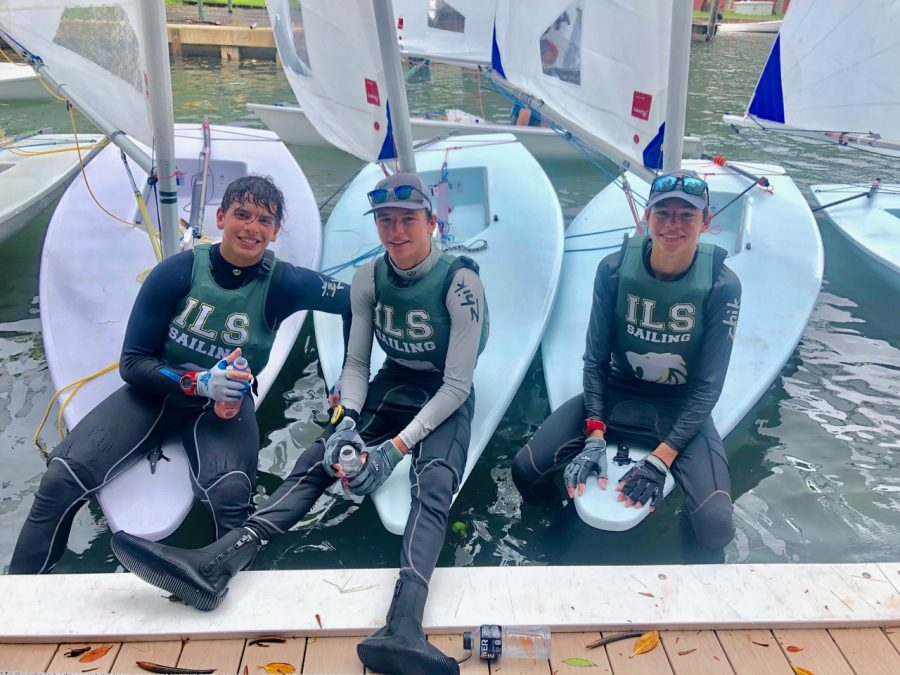 Junior Antonio Miranda, and sophomores Justin and Mitchell Callahan competed for the ILS Sailing Team this past weekend.