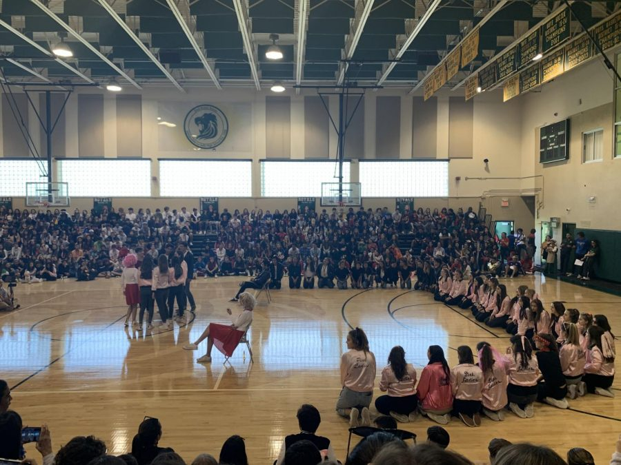 Junior class performing Grease themed skit  Photo credit: Noor Andre