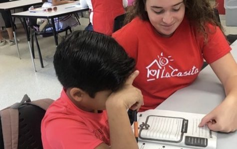 ILS volunteers help tutor the children at La Casita Foundation.