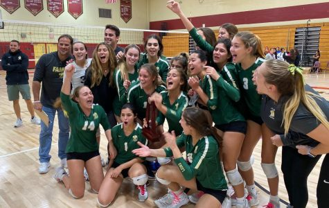 ILS girls varsity volleyball won the district championship last night.