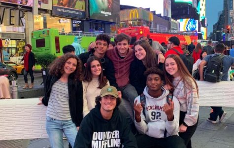 ILS juniors in Times Square before their experience at OLR.