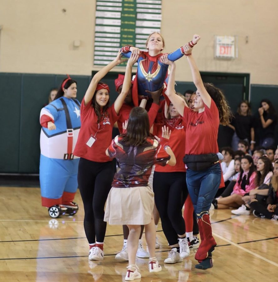 Class+of+2020+performing+in+their+Senior+Skit.