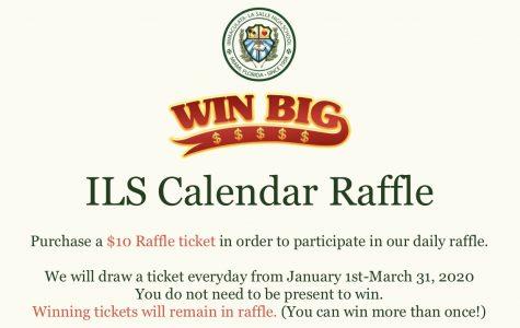 ILS Hosting Calendar Raffle Fundraiser