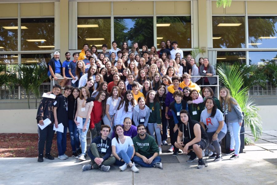 Students%2C+participants%2C+and+adult+chaperones+enjoying+the+retreat.+