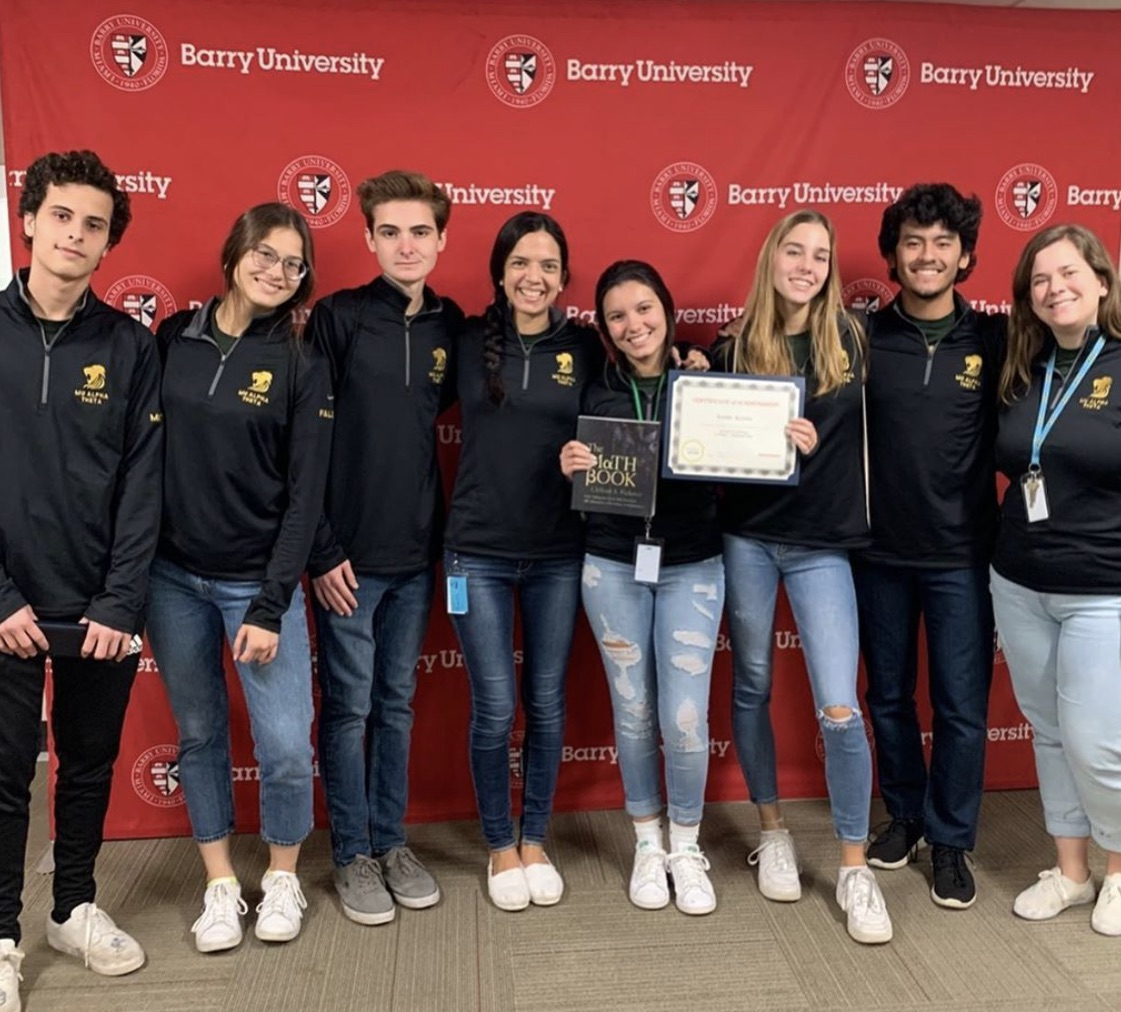 The Mu Alpha Theta honor society represented ILS well at the Barry University competition last week.