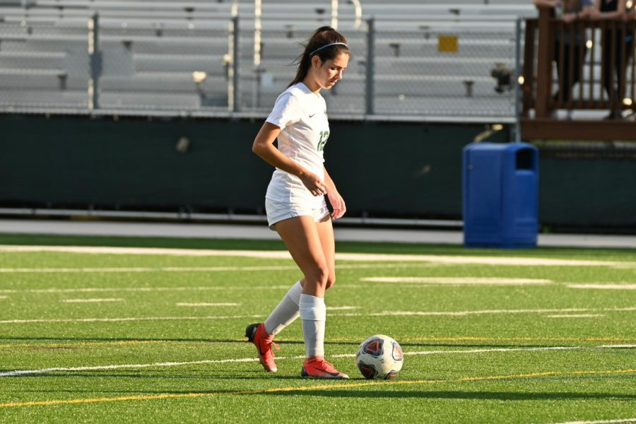 Jessica Saavedra scored her first goal of the season versus Miami Country Day.