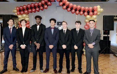 Junior boys posing before Winter Formal got going at the Hyatt Regency in Downtown Miami.