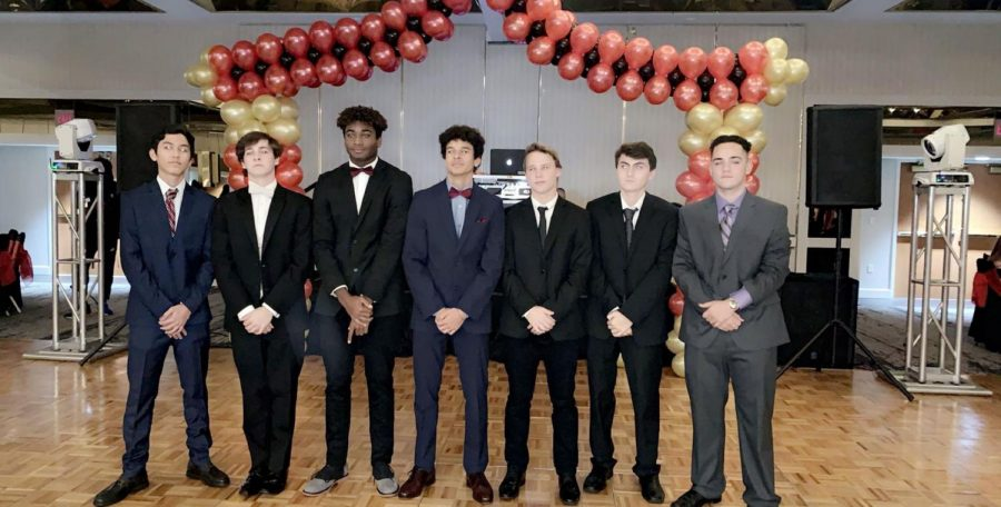 Junior boys posing before Winter Formal got going at the Hyatt Regency in Downtown Miami.
