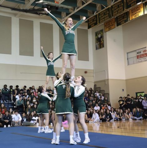 ILS Cheerleading performance at Pep Rally