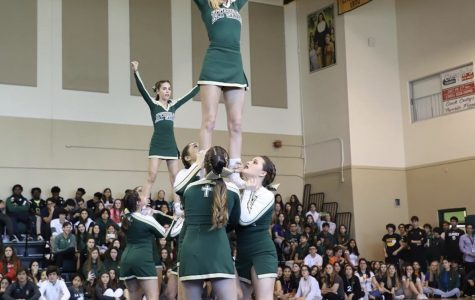 ILS Cheerleading performance at Pep Rally