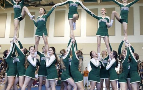 ILS Cheerleaders performed their routine at the Winter Sports Pep Rally.