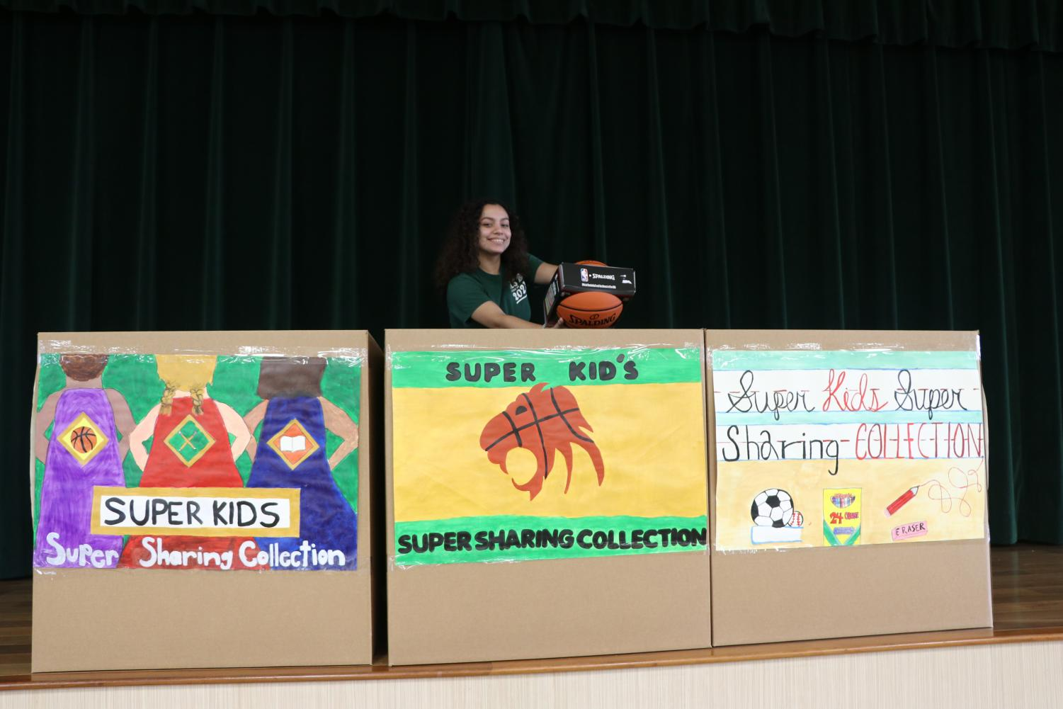 The Super Kids-Super Sharing charity event is done as part of the Super Bowl festivities.