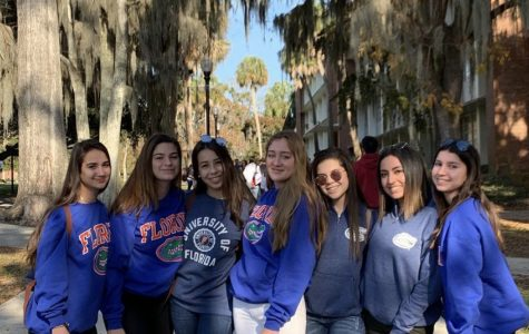 Class of 2020 students at UF during last year's Junior College Tour.