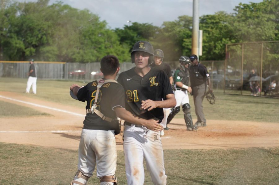 The ILS baseball team opened their preseason with a 10-1 win over Ferguson on Monday.