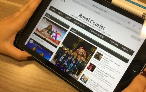 The Journalism class produces the school newspaper: The Royal Courier.