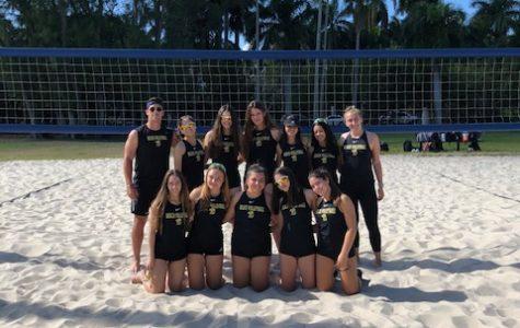ILS's inaugural beach volleyball team.