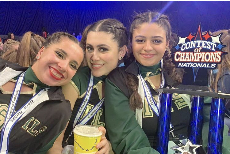 Seniors Kathleen Garcia, Ella Perez and Andrea Lavista (left to right) were integral parts of the Lionettes dance program during their time at ILS.