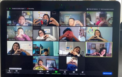 Some of the kids and their ILS student counselors enjoying their last day of virtual camp!