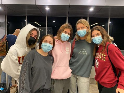 ILS students pictured at the Miami International Airport via Charlize Ramos
