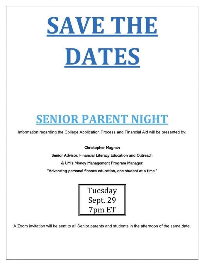 Senior parent night information Via Ms. Hoyos