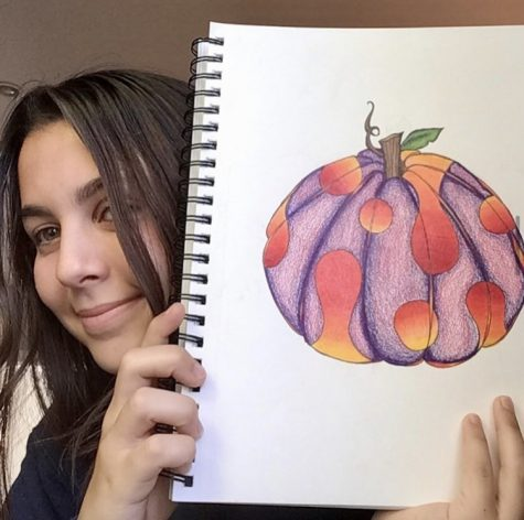 ILS art students like senior Camila Musibay have participated in the #Inktober challenge in 2020.