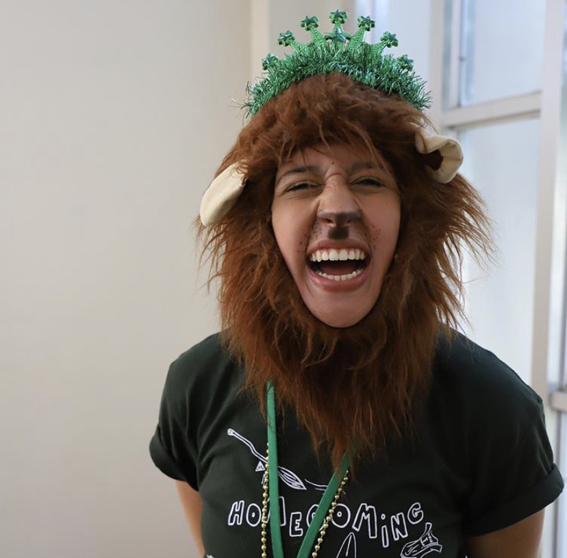Senior Veronica Oliveira dressed up as our mascot during last year's Homecoming.