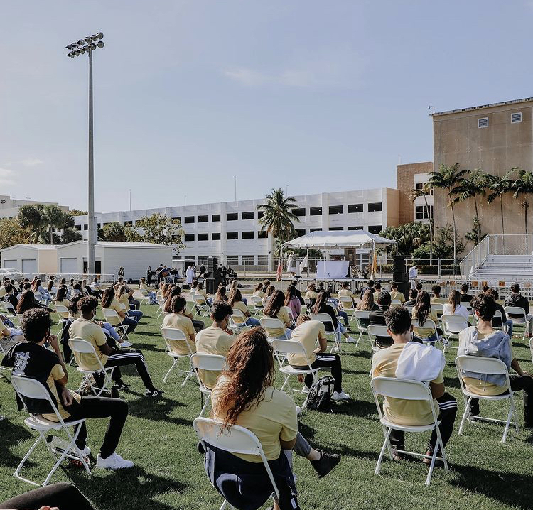 The class of 2021 gathered as a whole on Don Bosco Day for the first time since March 2020.