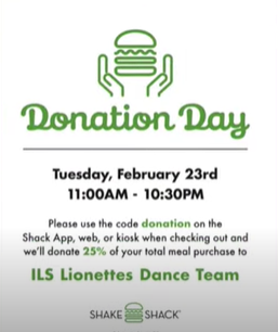 The Lionettes Shake Shack Fundraiser