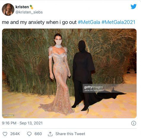 A Met Gala inspired meme.