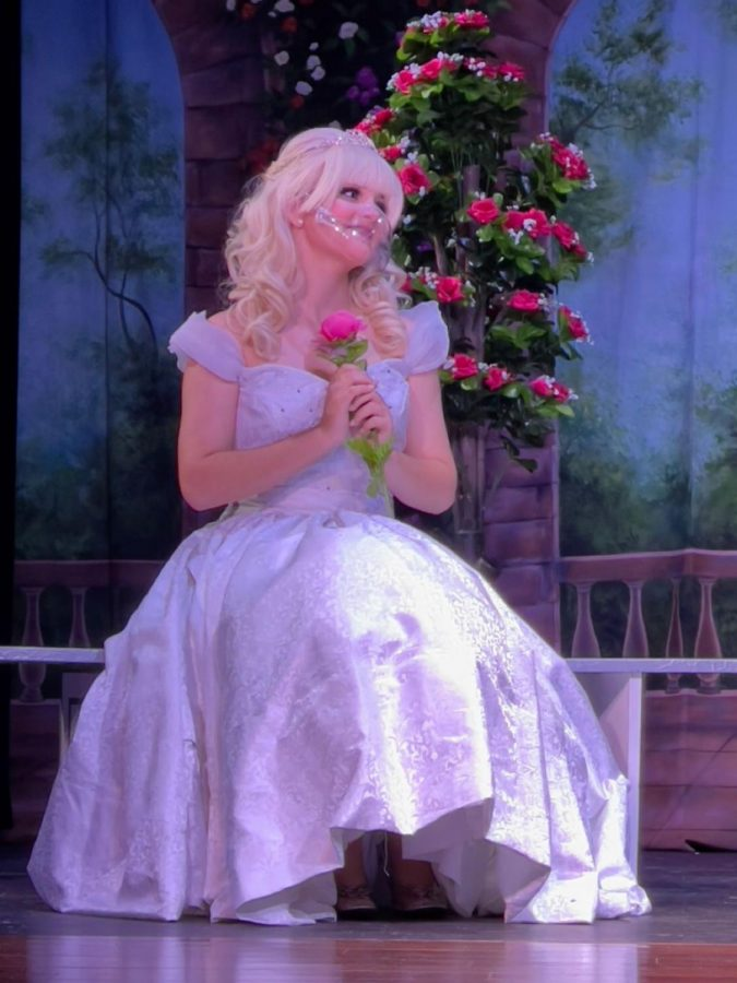 Ana Rincon as Cinderella in La Salles 2021 production of Rodgers & Hammersteins Cinderella, their first show with a live audience since the previous year.